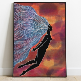 Title: Floating Medium: Digital Size: Various Poster Prints: Available