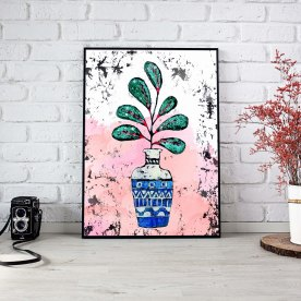 Title: House Plant Medium: Wax, Watercolor, Photoshop Size: Various Poster Print: Available