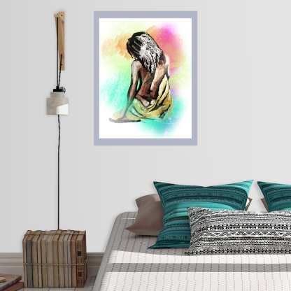 Title: Self Help Medium: Wax, Watercolor, Digital Size: Various Poster Print: Available